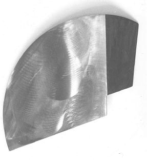 Aen Sauerborn: Blauer Teichert, 1985, Lack / Stahl, 120x140cm
